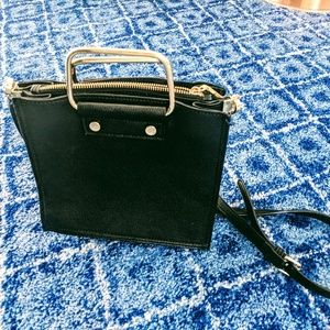Charming Charlie's black purse, gold handles